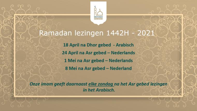 Ramadan lezingen 1442H – 2021