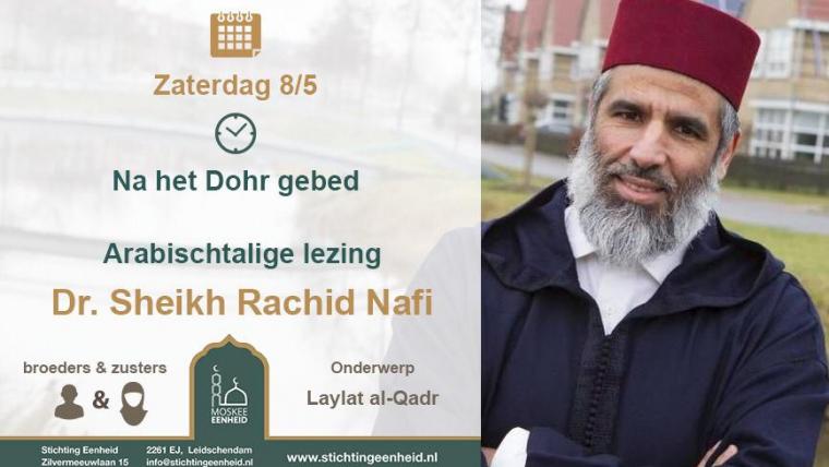 Lezing Dr. Sheikh Rachid Nafi